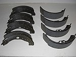 Four front Brake Shoes and Four Rear Brake Shoes with Linings  (for the Silver Cloud II, III & S2, S3)